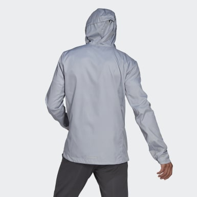 Männer Running Own the Run Hooded Windjacke Grau