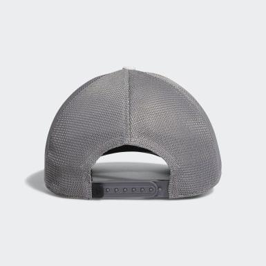 Men Golf White Blocked Trucker Hat