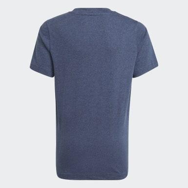 Boys Sport Inspired Blue adidas Essentials 3-Stripes Tee