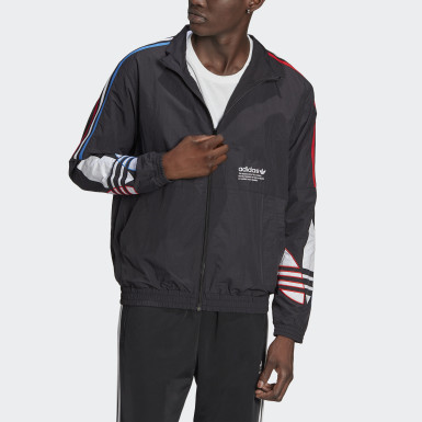 Men Originals Black Adicolor Tricolor Track Jacket