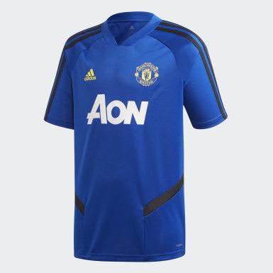 Kinderen Voetbal Blauw Manchester United Training Shirt