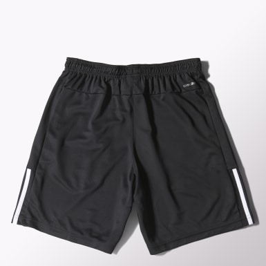 Men Yoga Black Base 3-Stripes Shorts