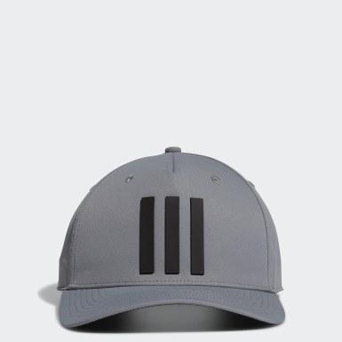 Men Golf Grey Golf 3-Stripes Tour Hat