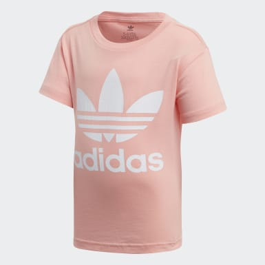 Kids Originals Pink Trefoil Tee