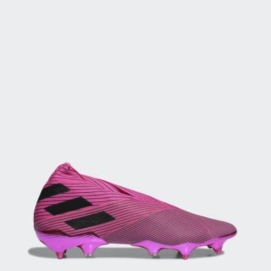 Calzado de fútbol Nemeziz 19+ Terreno Suave Rosa Hombre Fútbol