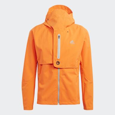 Muži Běh oranžová Bunda WIND.RDY