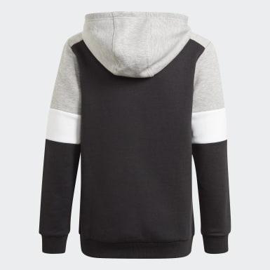 Sweat-shirt à capuche adidas Essentials Colorblock (Non genré) Noir Enfants Athletics
