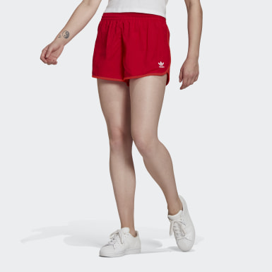 Dames Originals Rood Adicolor Classics 3-Stripes Short