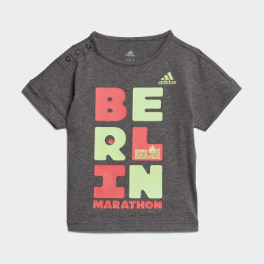 Boys Running Grey Berlin Marathon Tee