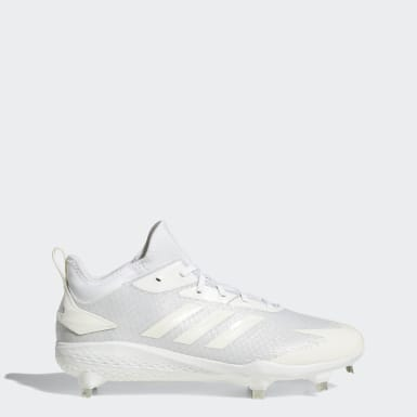 Men's Baseball White Adizero Afterburner V Dipped Cleats