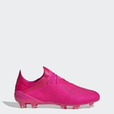 Bota de fútbol X 19.1 césped natural seco Rosa Fútbol