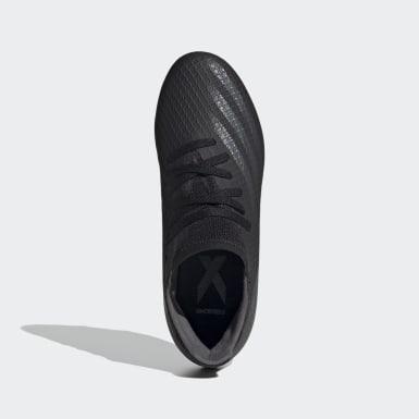Børn Fodbold Sort X Ghosted.3 Firm Ground støvler