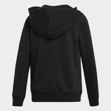 Hoodie 3-Stripes Zip Nero Donna Originals