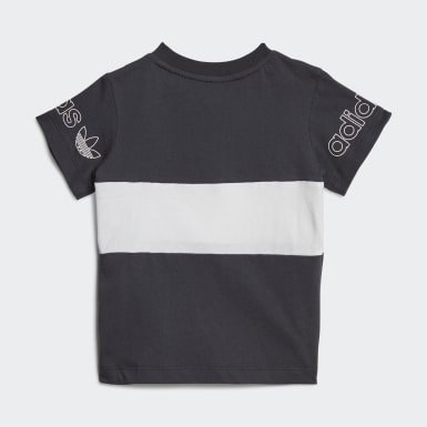 Kinder Originals Panel T-Shirt Grau