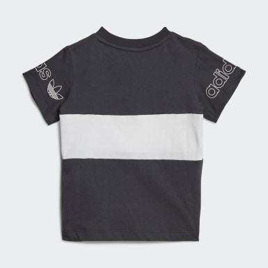 T-shirt Panel Cinzento Criança Originals