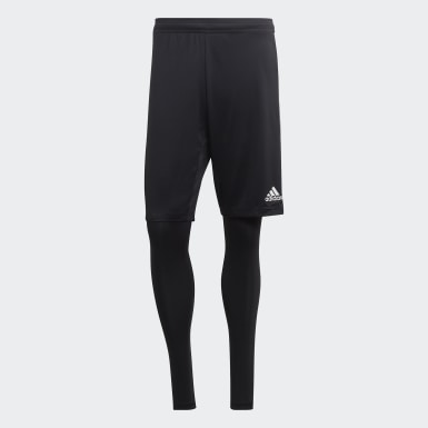 Men Training Black Tiro 19 Two-in-One Shorts