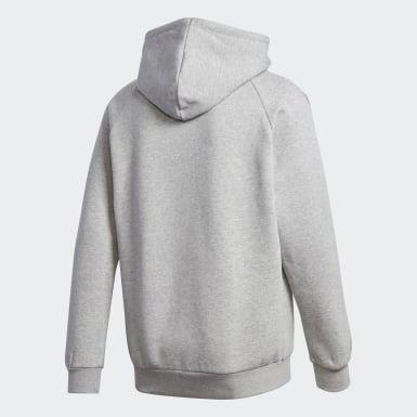 Sweat-shirt à capuche Adicolor 3D Trefoil 3-Stripes gris Hommes Originals