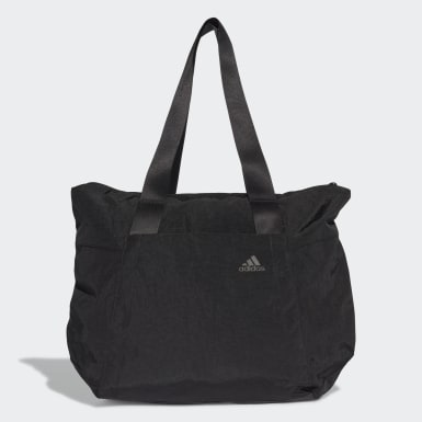 Women Yoga Black Tote Bag