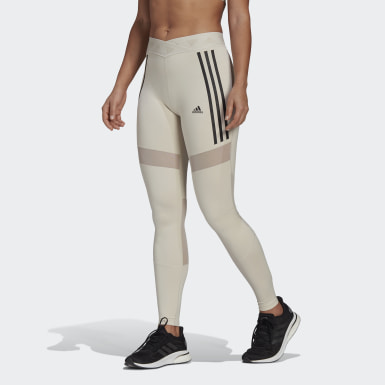 Frauen Running Mesh Tight Beige