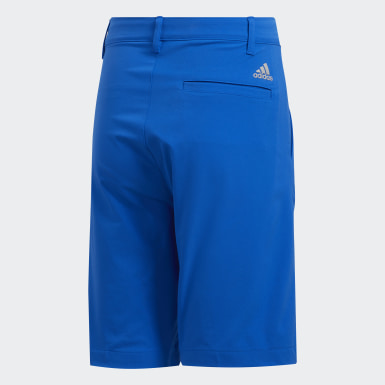 Youth Golf Blue Solid Golf Shorts