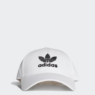 Cappellino Trefoil Baseball Bianco Originals