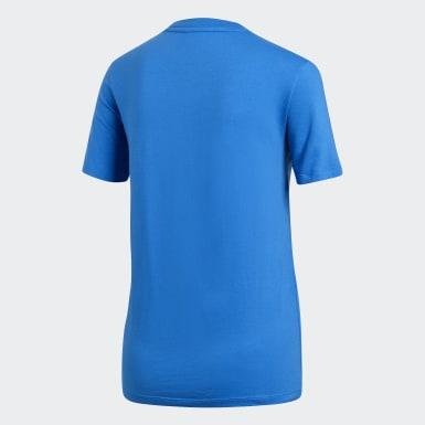 Camiseta Trefoil Azul Mulher Originals