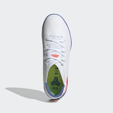 Children Football White Nemeziz Messi 19.3 Turf Boots