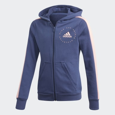 Youth 8-16 Years Training Blue Hooded Tracksuit