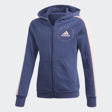 Mädchen Training Hooded Trainingsanzug Blau