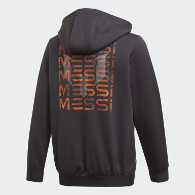 Chaqueta con capucha Football-Inspired Messi AEROREADY Warming Negro Niño Training