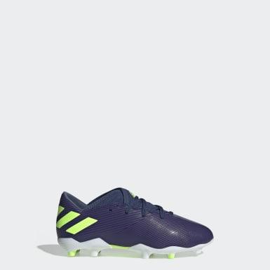 Boys Fodbold Blå Nemeziz Messi 19.3 Firm Ground støvler
