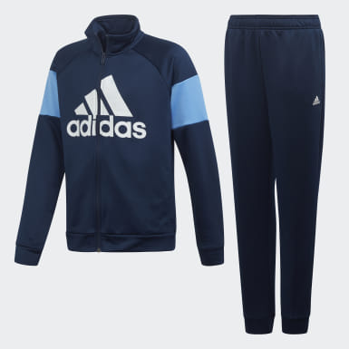 Boys Training Blue Badge of Sport Track Suit