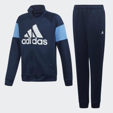 Tuta Badge of Sport Blu Ragazzo Training