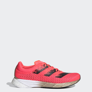 Men Running Pink Adizero Pro Shoes