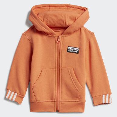 Infant Originals Orange Hoodie Set