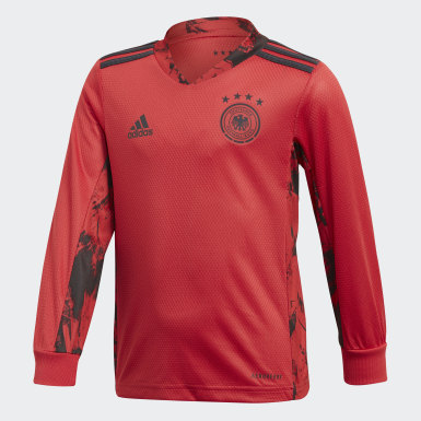 Youth 8-16 Years Football Red Germany Home Goalkeeper Mini Kit