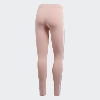Women Originals Pink 3-Stripes Leggings