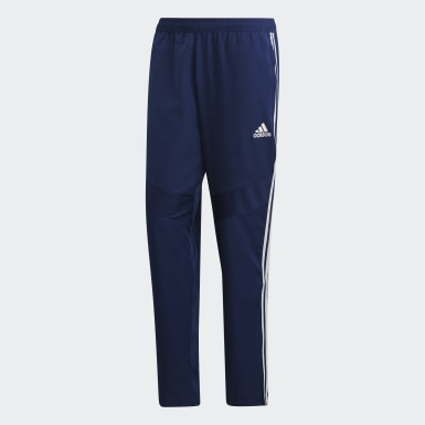 Men Training Blue Tiro 19 Woven Tracksuit Bottoms