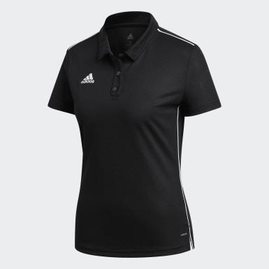 Polo con cuello Core 18 Climalite Negro Mujer Fútbol