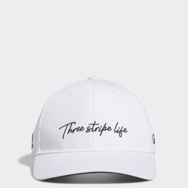 ผู้ชาย กอล์ฟ สีขาว หมวกแก๊ป 3-Stripe Life