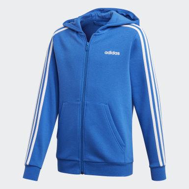 Chaqueta con capucha Essentials 3 bandas Azul Niño Athletics