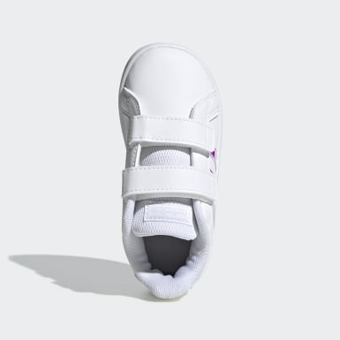 Kids Lifestyle White Grand Court Shoes