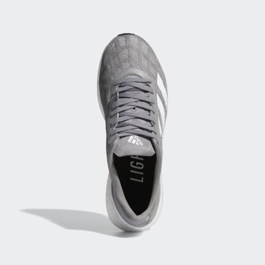 Men's Running Grey Adizero Boston 9 Shoes