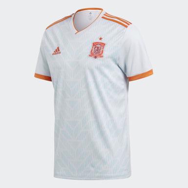 синий Гостевая игровая футболка сборной Испании