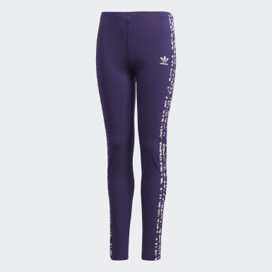 Girls Originals Purple Leggings