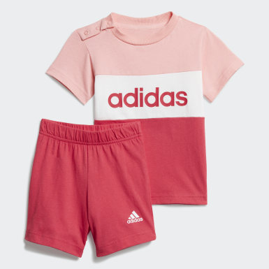 Kinderen Athletics Roze Colorblock Setje