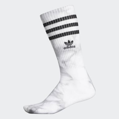Men's Originals White Tie-Dye Roller Crew Socks