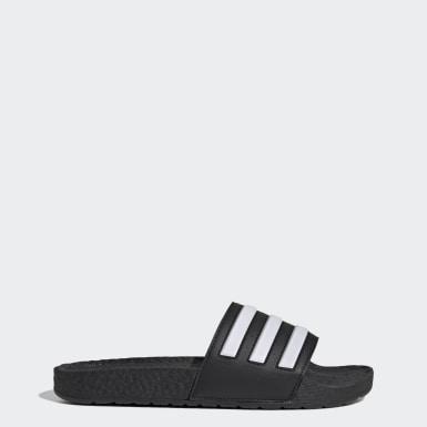 ว่ายน้ำ สีดำ รองเท้าแตะ Adilette Boost