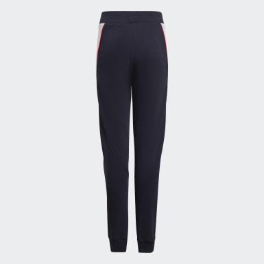 Girls Træning Blå Bold Tapered Leg bukser