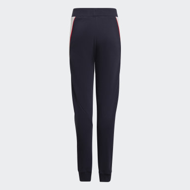 Youth 8-16 Years Training Blue Bold Tapered Leg Joggers
